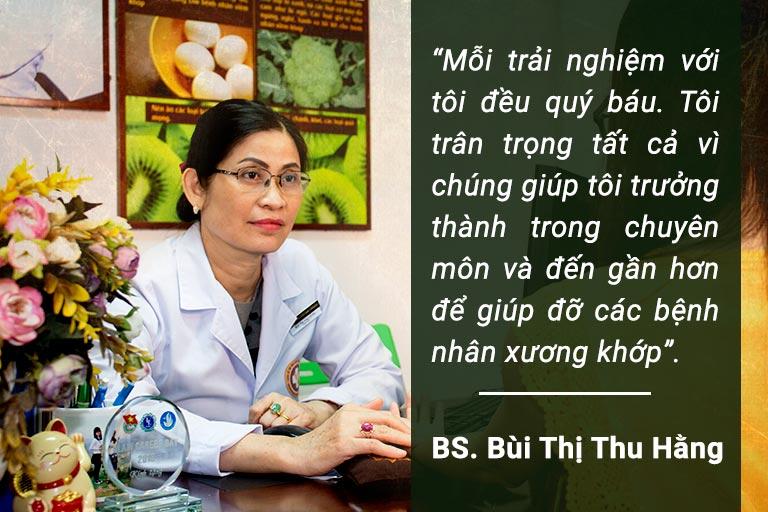Bác sĩ Thu Hằng người có hơn 20 năm điều trị xương khớp chia sẻ