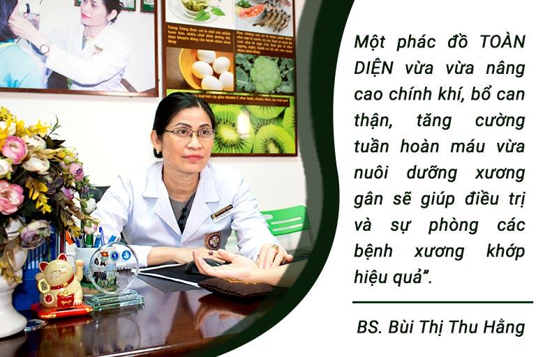 Bác sĩ Thu Hằng chia sẻ về phương pháp điều trị xương khớp