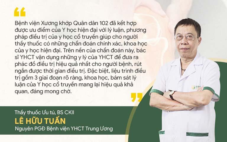 Đánh giá của bác sĩ Lê Hữu Tuấn về Giải pháp Xương khớp 102