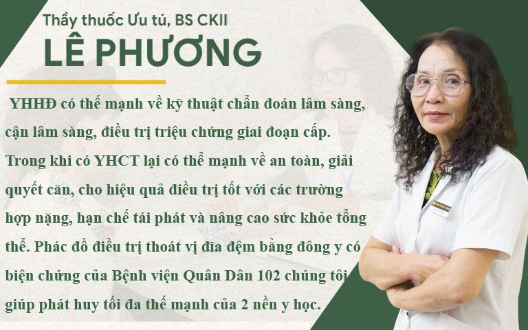 Thầy thuốc ưu tú, BSCKII Lê Phương chia sẻ về phác đồ điều trị thoát vị đĩa đệ