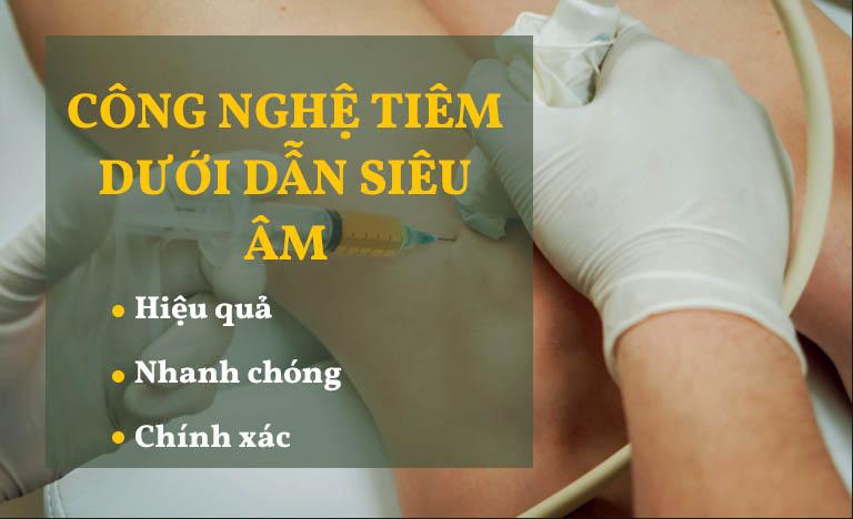 Công nghệ tiêm dưới dẫn siêu âm đang được áo dụng tại Bệnh viện YHCT Xương khớp Quân dân 102