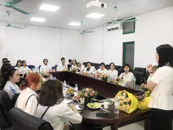 Bệnh viện Đa khoa YHCT Quân Dân 102 tiếp nhận sinh viên Đại học Lao động Xã hội đến kiến tập