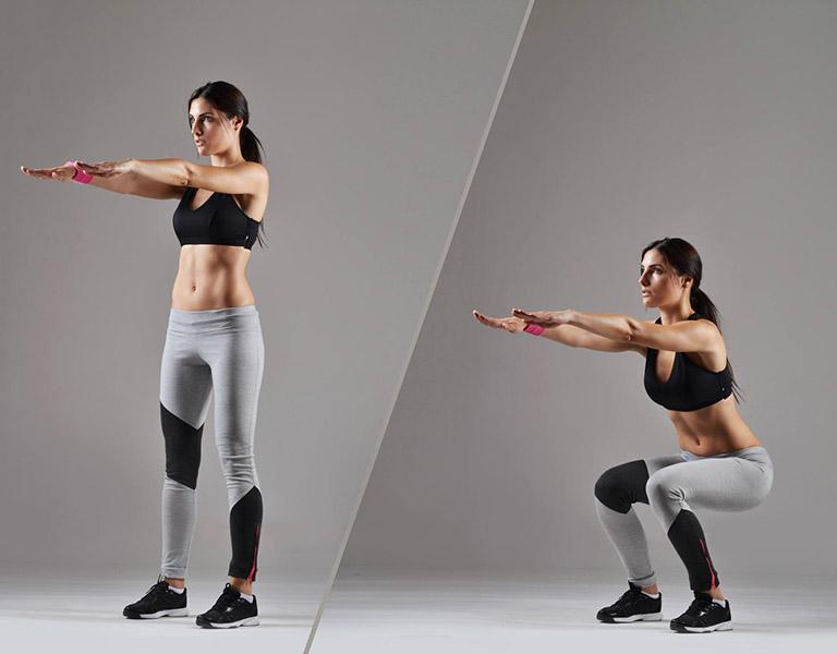 Bài tập squat là bài tập rất hiệu quả với bệnh nhân thoái hóa đốt sống cổ