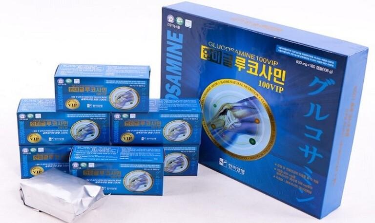 bột Glucosamine Hydrochloride chiếm 96,85% thành phần sản xuất nên viên thuốc Hanmi.