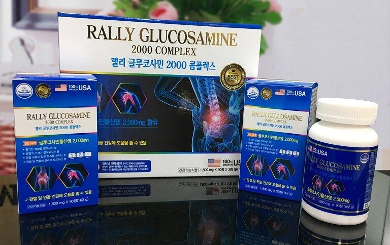 Viên uống Rally Glucosamine 2000 Complex dùng cho người cao tuổi, người vận động và làm việc nặng nhọc,...