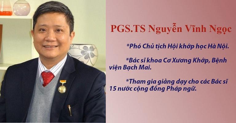 PSG.TS Nguyễn Vĩnh Ngọc đã điều trị thành công cho hàng nghìn trường hợp mắc bệnh cơ xương khớp