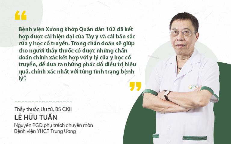 Bác sĩ Lê Hữu Tuấn đánh giá cao về quy trình khám chữa thoát vị đĩa đệm Đông - Tây y kết hợp