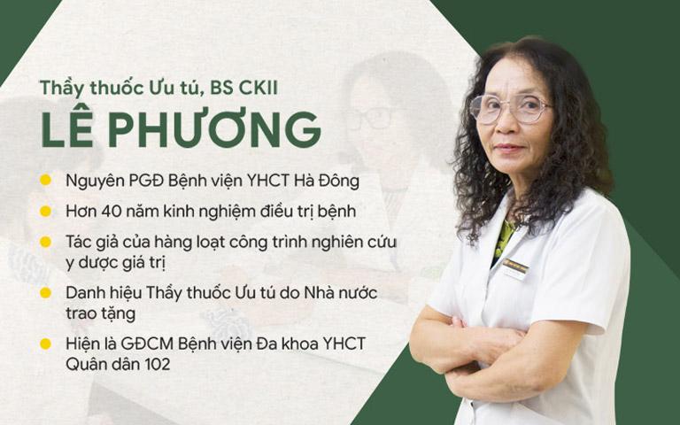 Bác sĩ Lê Phương là Giám đốc chuyên môn Bệnh viện Xương khớp Quân dân 102