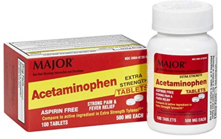 Thuốc chữa viêm khớp khuỷu tay Acetaminophen được dùng phổ biến nhất