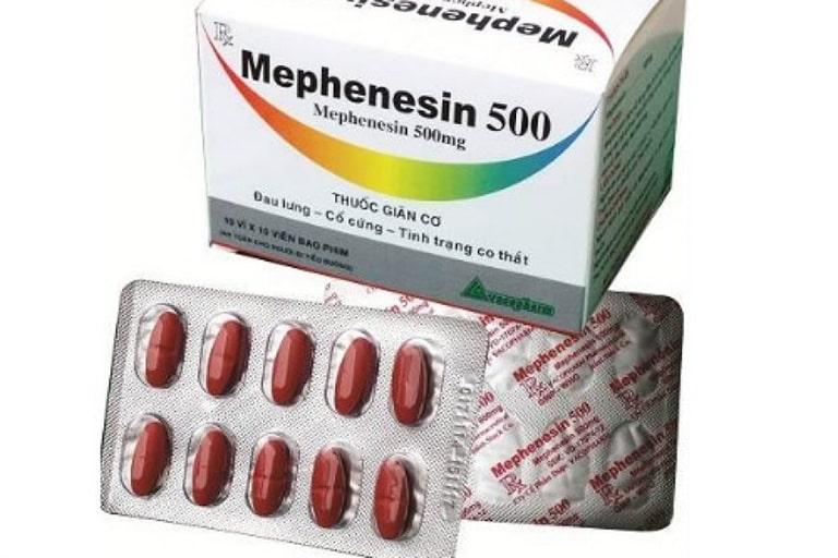 Mephenesin thuốc thuộc nhóm giãn cơ, tăng trương lực