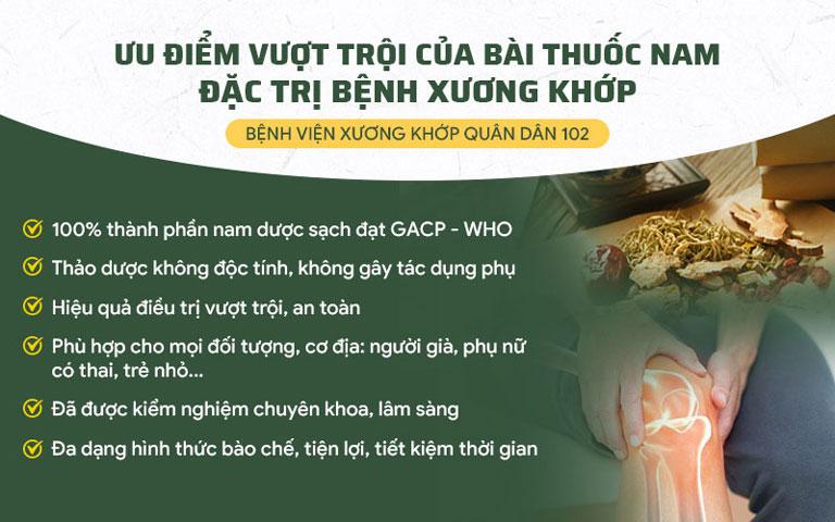 Một số ưu điểm của bài thuốc Cốt vương Thần hiệu thang