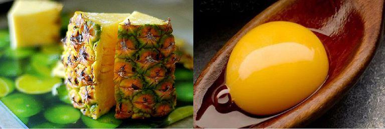 Sự kết hợp giữa trứng gà và dứa giúp tăng cường sức khoẻ