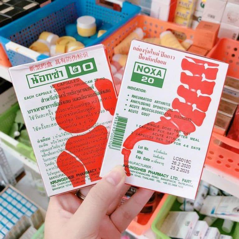 Bao bì sản phẩm Noxa 20 đang lưu hành tại Việt Nam