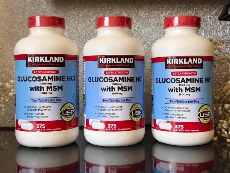 Sản phẩm Kirkland Glucosamine and Chondroitin được sử dụng rộng rãi trên thị trường Mỹ