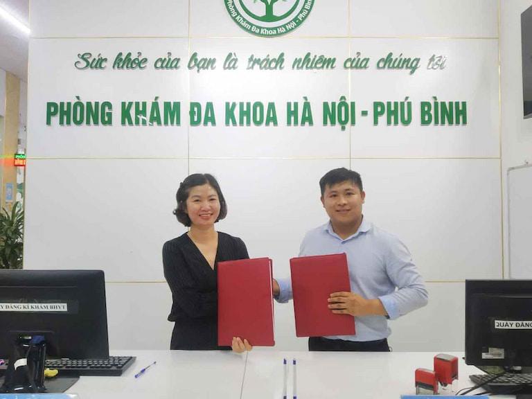 Sự kiện ký kết thành lập Trung tâm y học cổ truyền Quân Dân 102 tại Phòng khám Đa khoa Hà Nội - Phú Bình (Thái Nguyên)